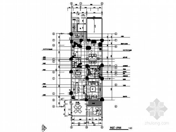 现代风格三层联排别墅样板房装修设计施工图