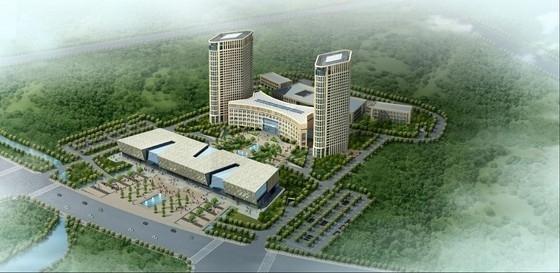[辽宁]超高层双弧形舒展型双塔式机关办公楼建筑设计方案文本