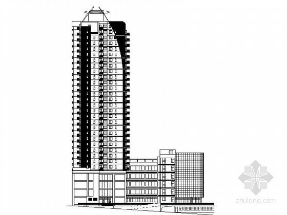 某三十层商住楼建筑施工图(带入户花园)