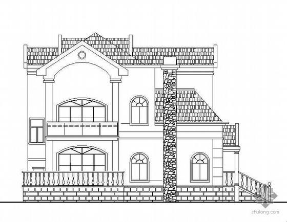 某三层砖混结构坡屋顶小别墅建筑结构水电施工图