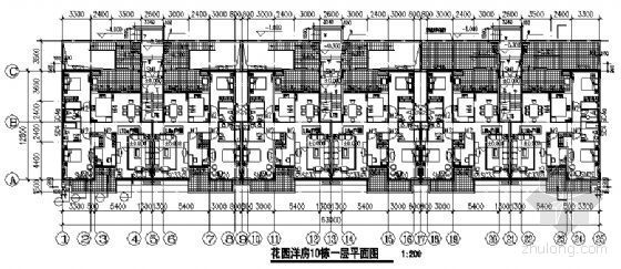 东部花园洋房10栋住宅楼建筑施工图-2