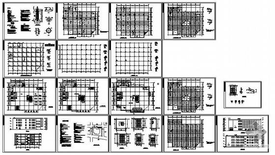 沈阳某中型商场建筑结构图