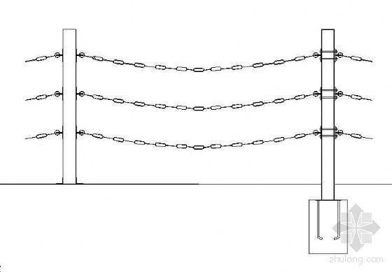 某钢链护栏施工大样图