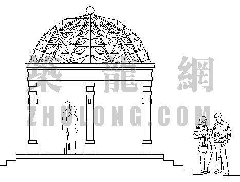 深圳欧式六柱亭施工图
