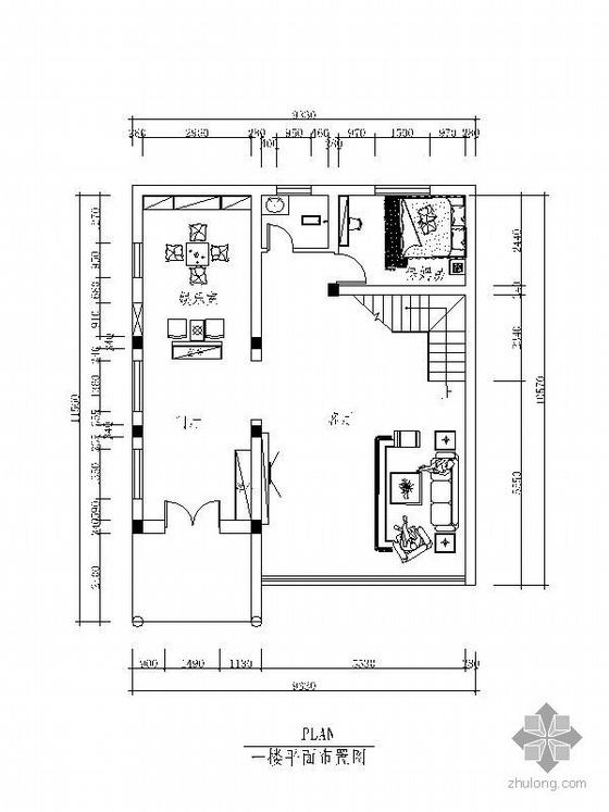 四层高级别墅平面设计图(含效果)