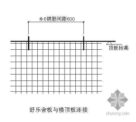 邯郸某病房楼舒乐板与地面楼板连接施工详图
