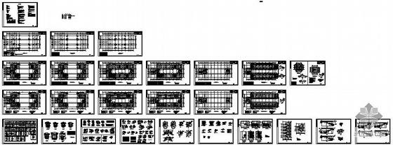 广西某综合教学楼钢框架图纸