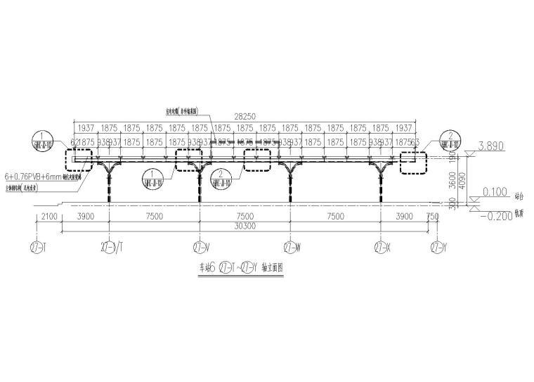 [东莞]火车站雨棚施工图