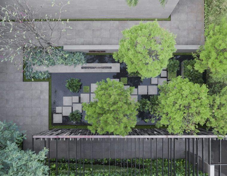 万漪景观分享-圣保罗住宅入口庭院