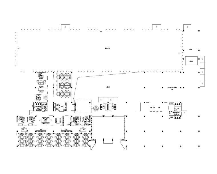 工业风--办公楼研发楼设计水泥墙办公室施工图+效果图