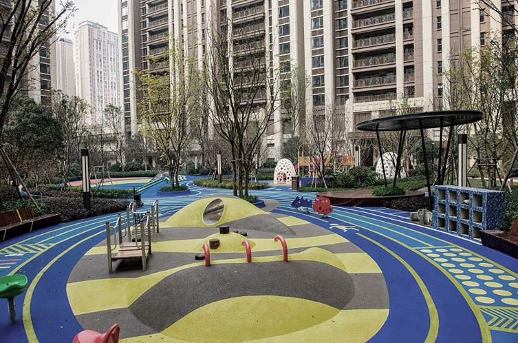 成都九里晴川大区新中式住宅景观-1 (1)