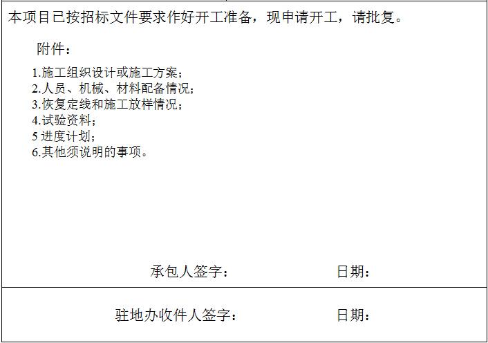 [邯郸]公路桥梁钻孔桩基础开工报告