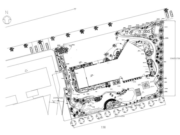 某居住区示范区样板房景观方案设计CAD施工图纸