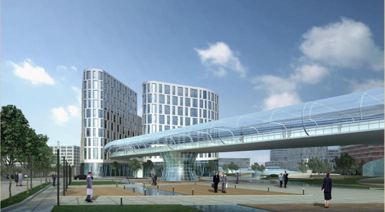 [上海]现代风格低碳城市综合体建筑设计方案文本_3