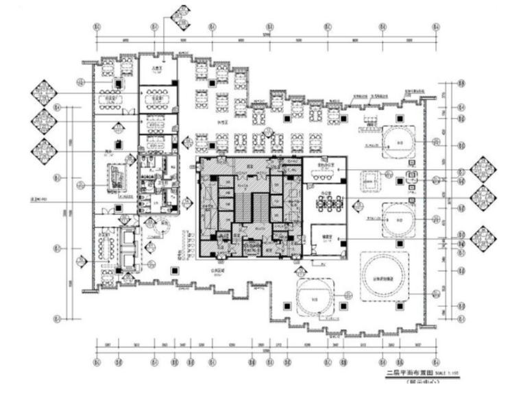 [深圳]大涌华润城新展示中心室内设计方案+软装方案+CAD施工图