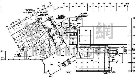 天津蓟县某度假村采暖通风设计图