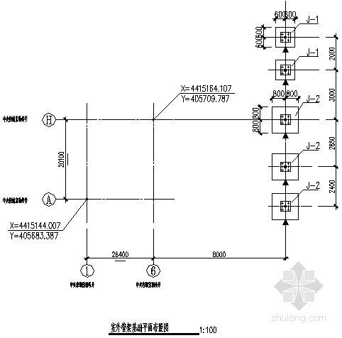 室外管架基础节点构造详图