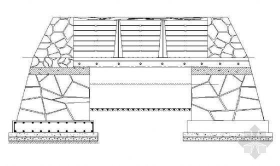 钢木景观桥平立面图