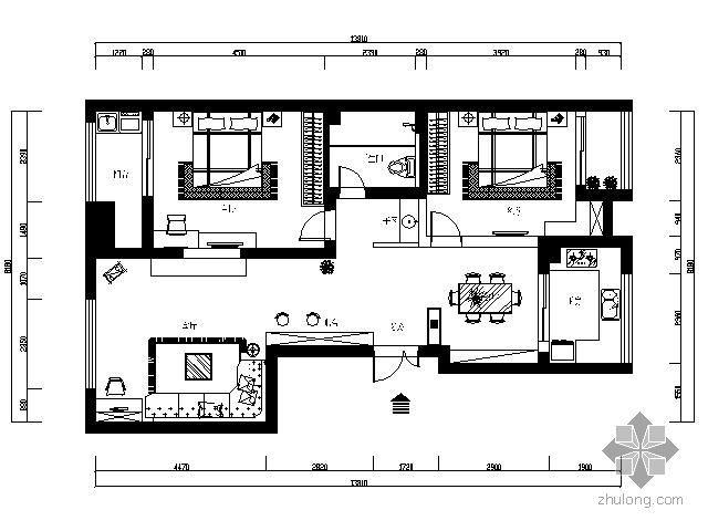 [宁波]某两居室装修图