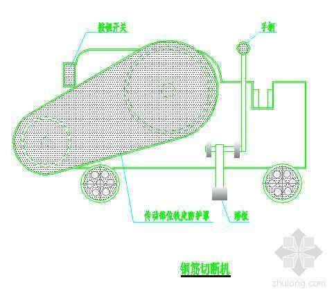 钢筋切断机及弯曲机安全防护示意图