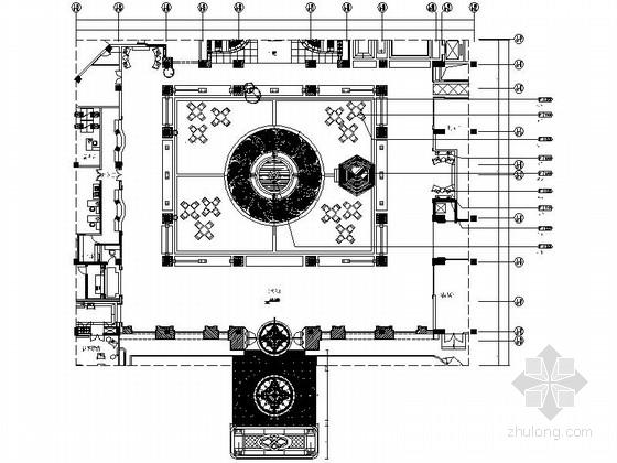 [深圳]五星级酒店大堂室内装修CAD竣工图(含实景)