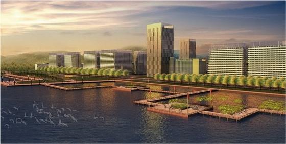 [湿地][福州]滨湖岛屿方案心形方案规划设计景观黑白公园v湿地图片素材图片