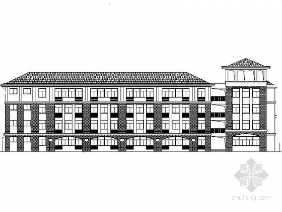 [安徽]市级多层小学整套规划设计施工图(含教学楼、风雨操场等2015年图纸)