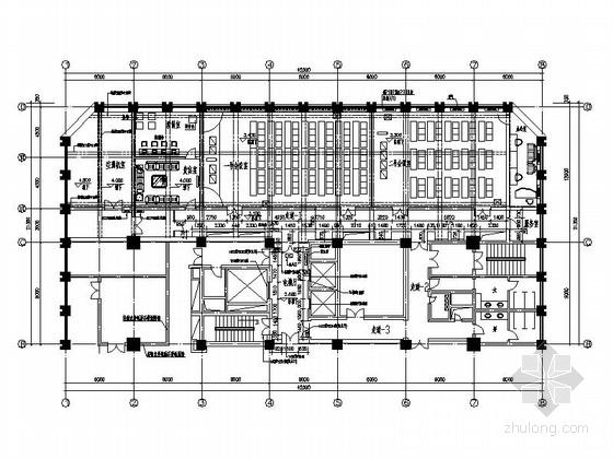[河南]某高级办公视频会议室室内设计cad施工图图片