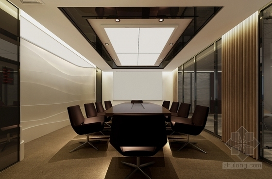 办公室效果图 办公室方案图 现代简约办公室 办公室装修设计效果图