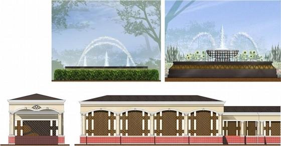 [河北]豪华安静住宅小区景观设计方案-景观剖面图