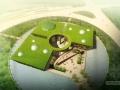[江西]4A级景区流畅曲面型景区中心建筑设计方案文本(含两套方案及CAD)