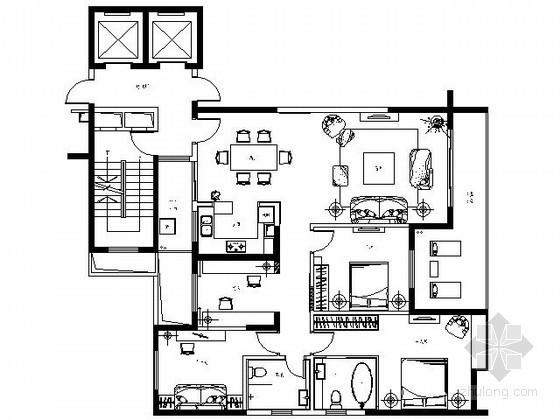 [昆明]现代四居样板房装修图