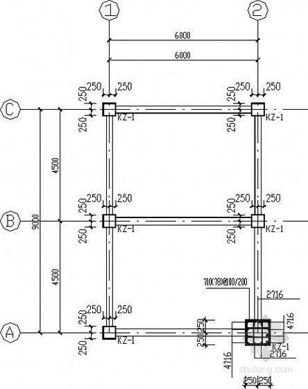 4层框架小型综合楼结构施工图