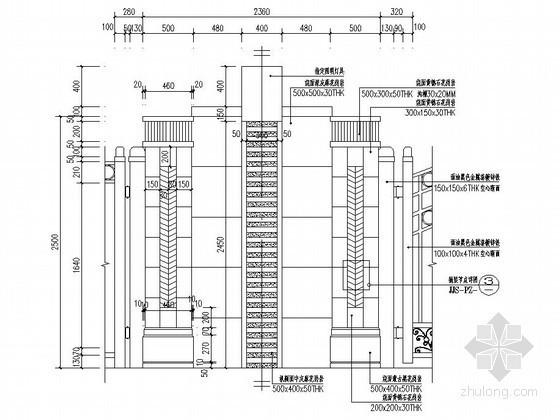 造型铁艺大门施工图