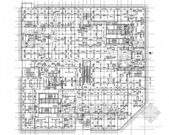 [内蒙古]高层综合楼空调采暖通风排烟系统设计施工图(商业 热水风幕 电热风幕)