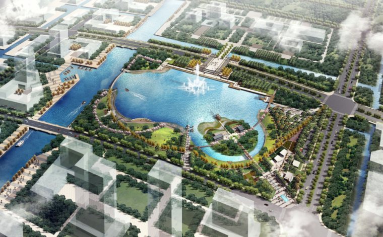 [上海]崇明新城核心政府办公区景观方案规划设计-AECOM