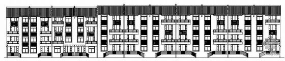 某仿古建筑联排别墅建筑结构施工图成套图纸