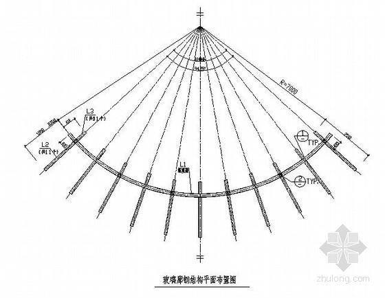 玻璃廊钢结构施工图