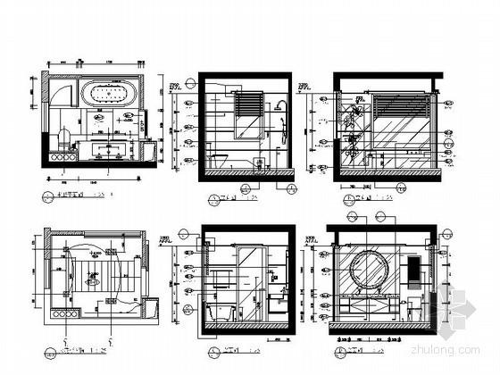 7平米正方卫生间平立面图