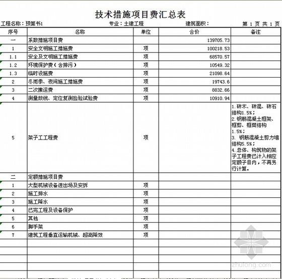 2011年陕西省建筑工程概算定额EXCEL版(2011.10.1起执行)