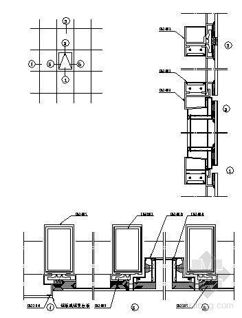U型玻璃幕墙隔断资料下载-150系列(C型)隐框玻璃幕墙装配图