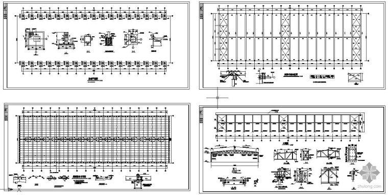 某32m跨桁架钢构厂棚方案图