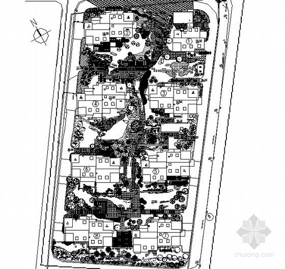 [杭州]居住区园林景观工程施工图