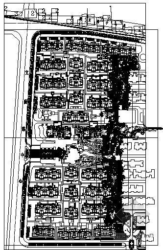 居住区景观轴线园林工程施工图