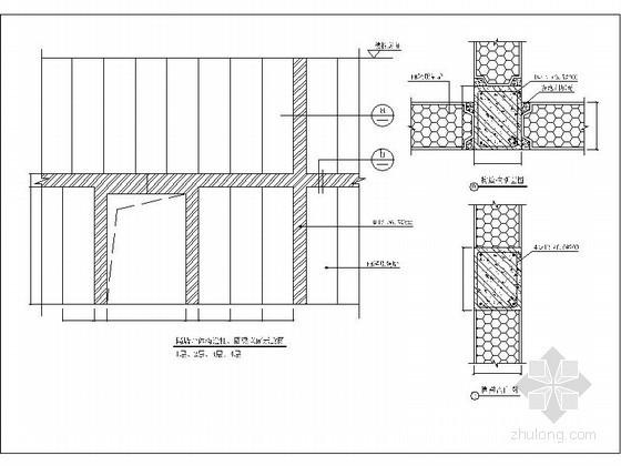 隔墙墙体构造柱详图