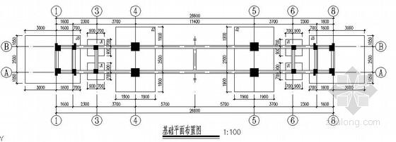 医院大门框架结构施工图