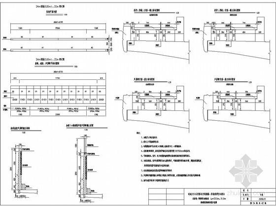 U型槽钢筋构造图资料下载-直曲线预制梁无碴轨道附属构造布置示意图(电缆槽 栏杆遮板 声屏障)