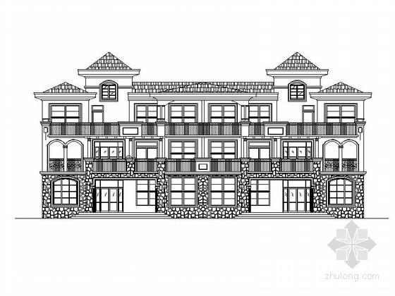 [青岛]小型多层砖瓦屋面式商业办公楼房建筑施工图