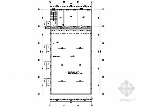 两层简洁高级中学食堂平面图