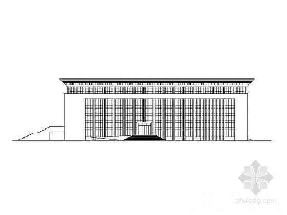 三层小型现代影剧院建筑设计方案图